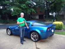 President, Kelly Ryan, with his Grand Sport