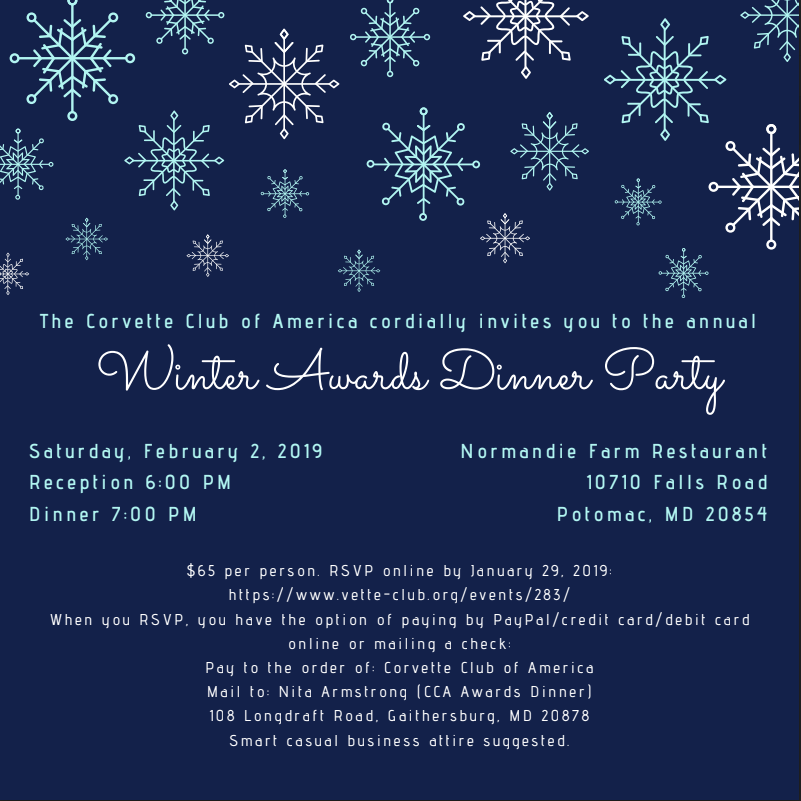Annual Awards Winter Dinner Party