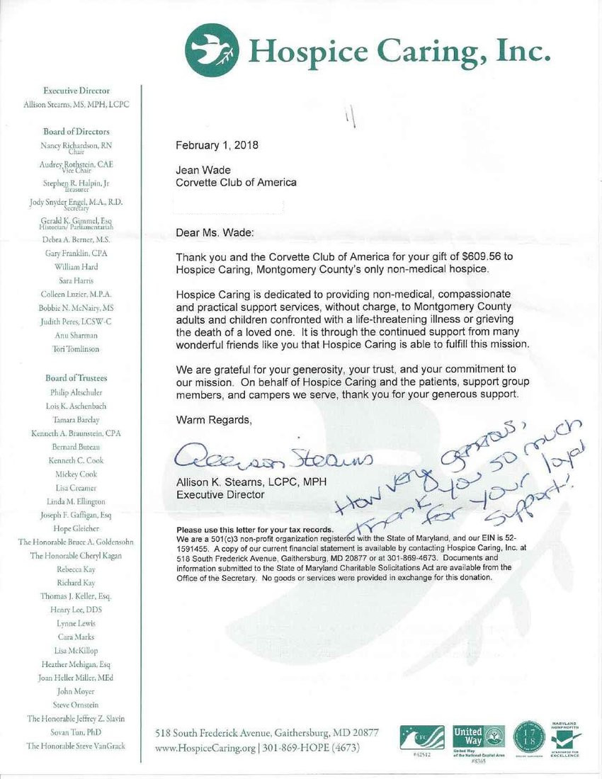 Hospice Caring Letter