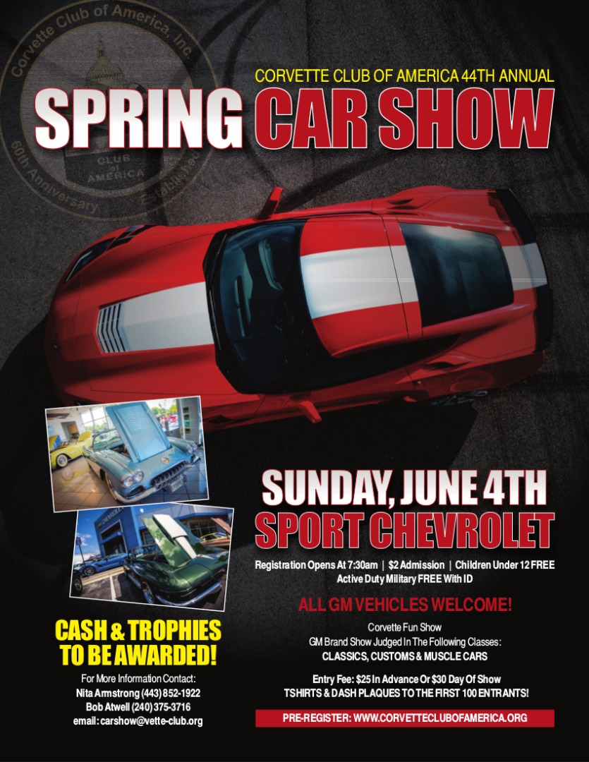 44th Annual CCA Spring Car Show Flyer, Page 1