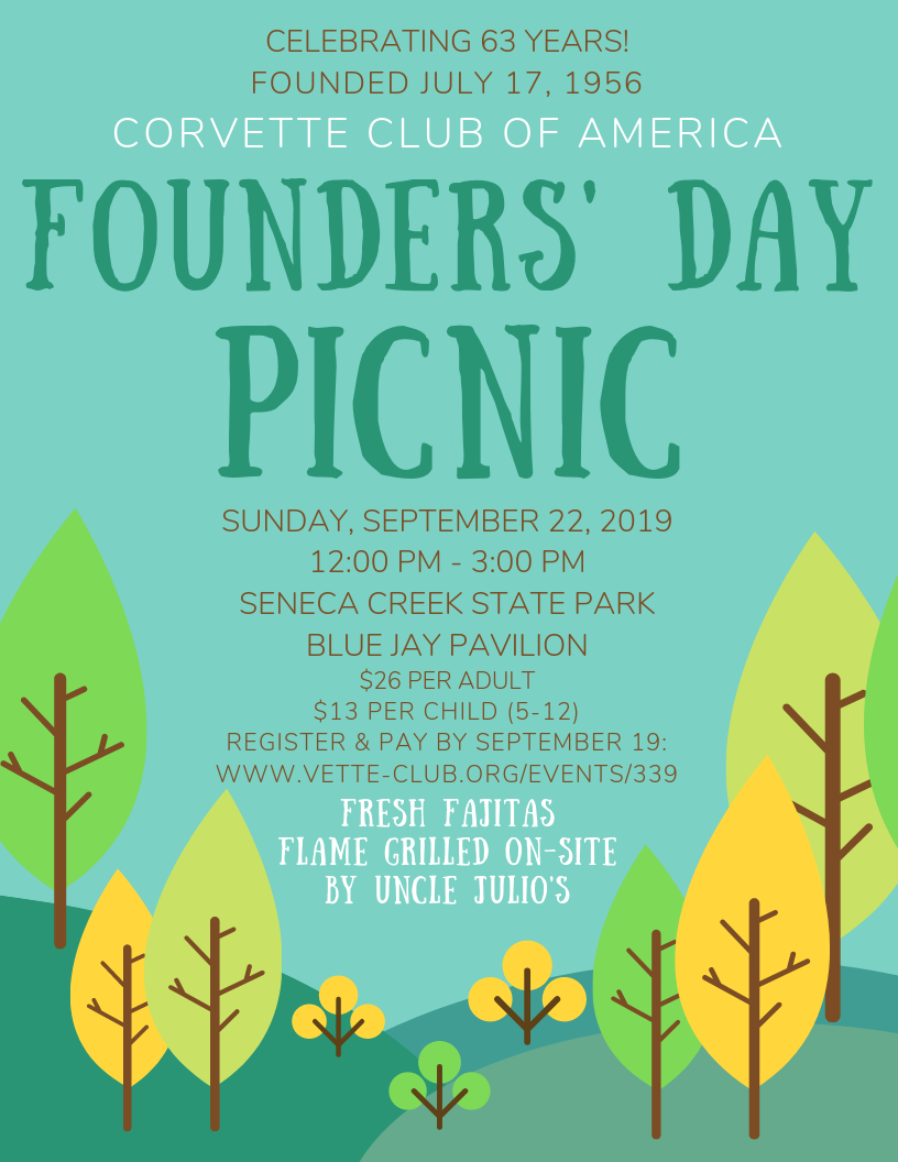 2019 Founders' Day Picnic Flyer